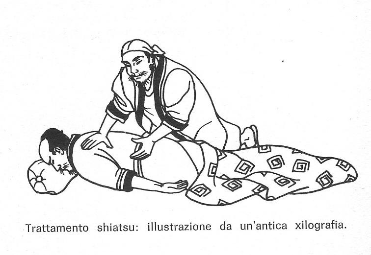 antica illustrazione trattamento shiatsu