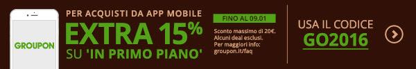 Groupon sconto da app 15%