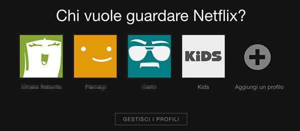 netflix gestisci profilo