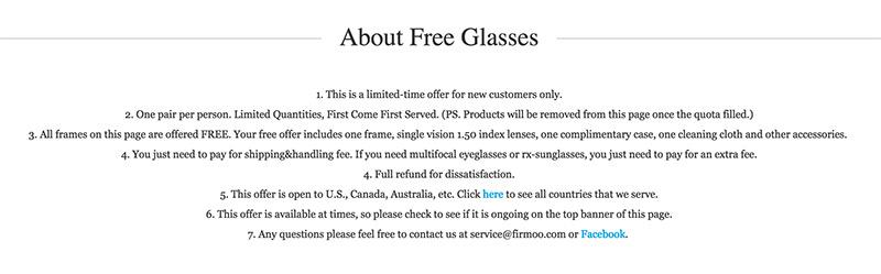 firmoo free glasses occhiali graduati gratis