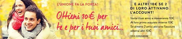 privalia invita amici sconto 10 euro acquista campagna premium buono regalo
