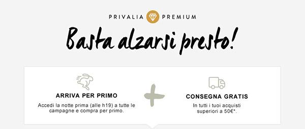 servizio premium consegna gratuita privalia campagne in anticipo Servizio Premium Privalia