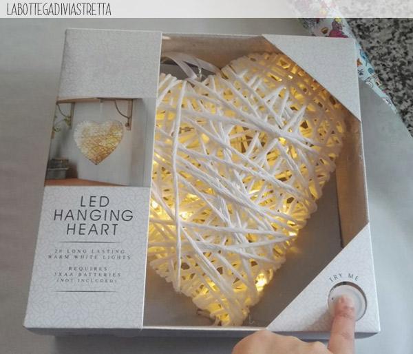 Led hanging heart shabby chic ≈ Amazon
